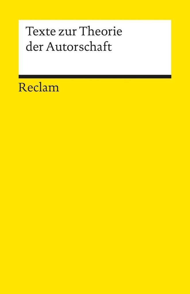 Texte zur Theorie der Autorschaft als Taschenbuch