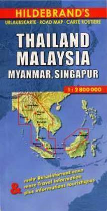 Thailand, Myanmar, Malaysia 1 : 2 800 000. Hildebrand's Urlaubskarte als Buch
