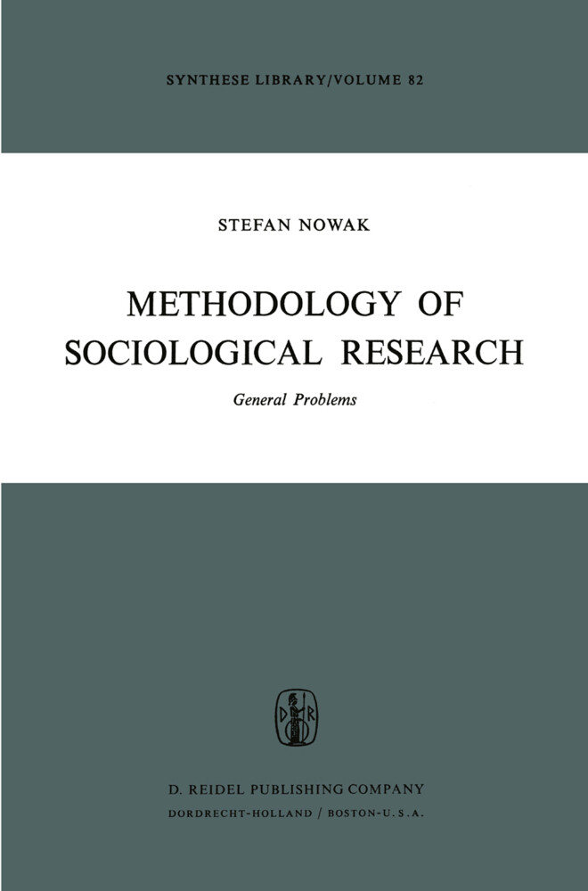 Methodology of Sociological Research: General Problems als Buch