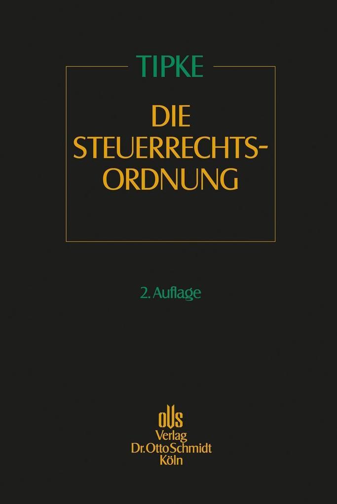 Die Steuerrechtsordnung 1 als Buch