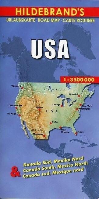 USA, Kanada Süd, Mexiko Nord 1 : 3 500 000 als Buch