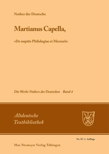 Martianus Capella, »De nuptiis Philologiae et Mercurii« als Buch