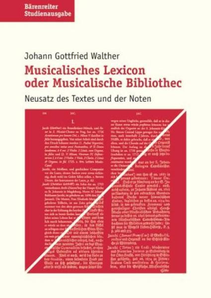 Musikalisches Lexikon oder musikalische Bibliothek. Studienausgabe als Buch