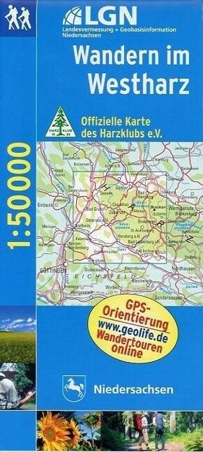 Wandern im Westharz 1 : 50 000. Topographische Karte mit Wanderwegen als Buch