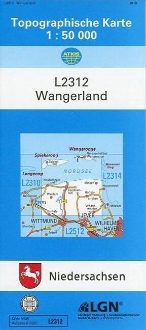Wangerland 1 : 50 000 als Buch