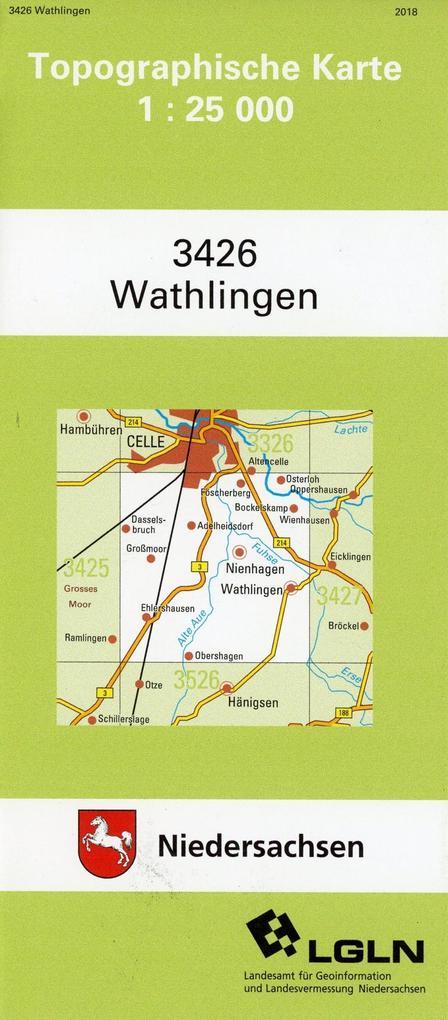 Wathlingen 1 : 25 000. (TK 3426/N) als Buch