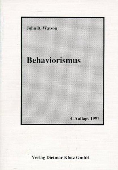 Behaviorismus als Buch