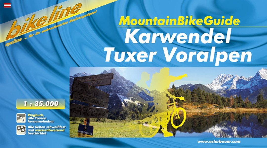 Bikeline Karwendel Tuxer Voralpen 1 : 35 000. MountainBikeGuide als Buch