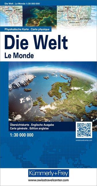 KuF Die Welt. Physikalische Karte 1 : 30 000 000 als Buch