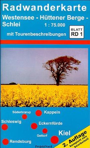 Westensee, Hüttener Berge, Schlei 1 : 75 000. Radwanderkarte als Buch