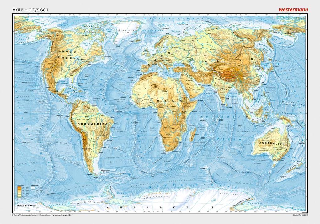 Posterkarten Geographie: Erde: physisch als Buch