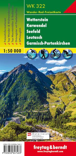Wetterstein, Karwendel, Seefeld, Leutasch, Garmisch Partenkirchen 1 : 50 000 als Buch