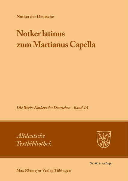 »Notker latinus« zum Martianus Capella als Buch