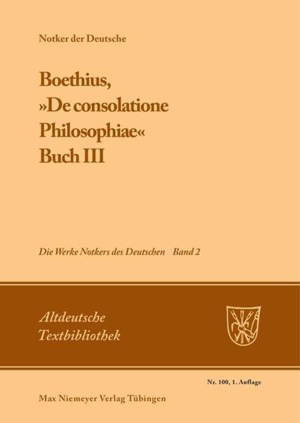 Boethius, »De consolatione Philosophiae« als Buch