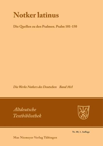Notker latinus als Buch