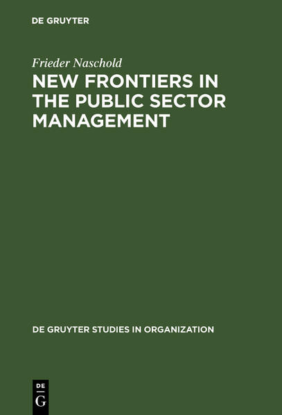 New Frontiers in the Public Sector Management als Buch (gebunden)