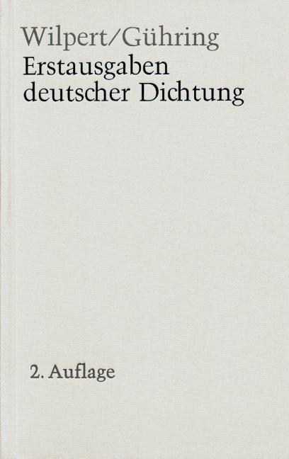 Erstausgaben deutscher Dichtung als Buch