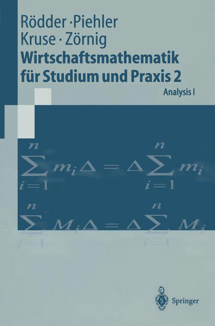 Wirtschaftsmathematik für Studium und Praxis 2 als Buch
