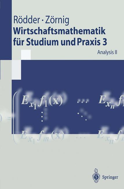 Wirtschaftsmathematik für Studium und Praxis 3 als Buch