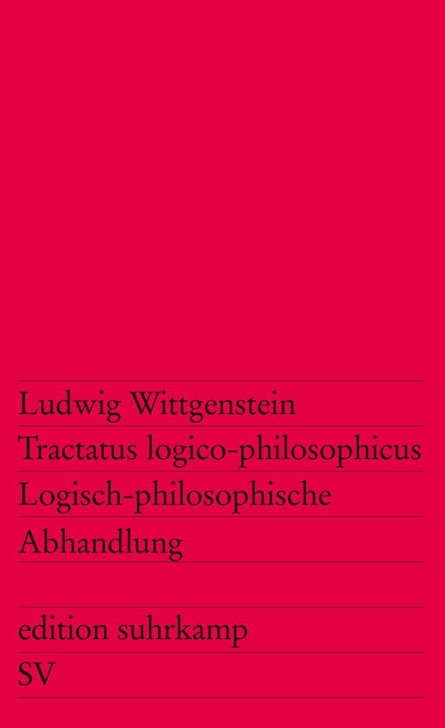 Tractatus logico-philosophicus / Logisch-philosophische Abhandlung als Taschenbuch