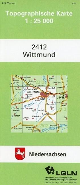Wittmund 1 : 25 000 (TK25 2412/NA) als Buch