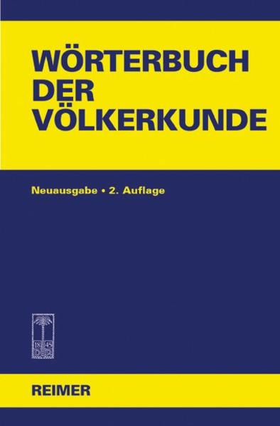 Wörterbuch der Völkerkunde als Buch