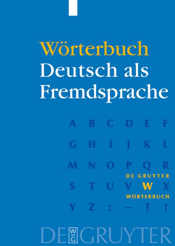 Wörterbuch Deutsch als Fremdsprache als Buch