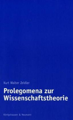 Prolegomena zur Wissenschaftstheorie als Buch