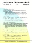 Zeitschrift für Anomalistik 2. Nr. 1/2 als Buch