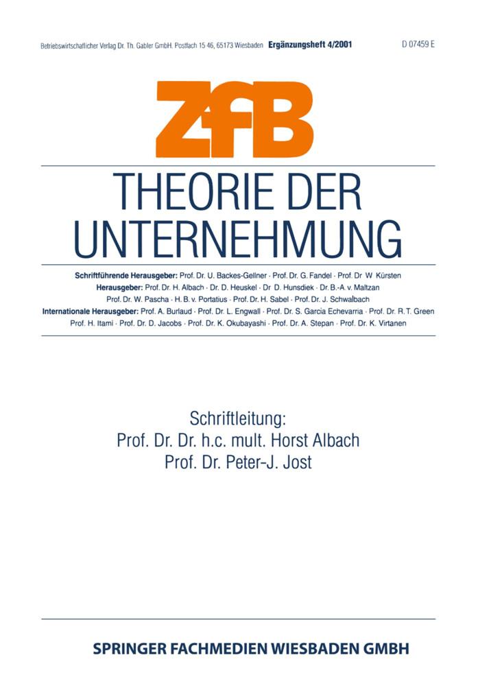 Theorie der Unternehmung als Buch