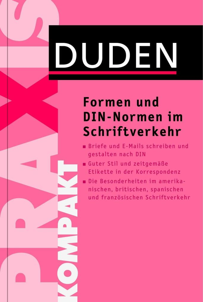 Formen und DIN-Normen im Schriftverkehr als Buch