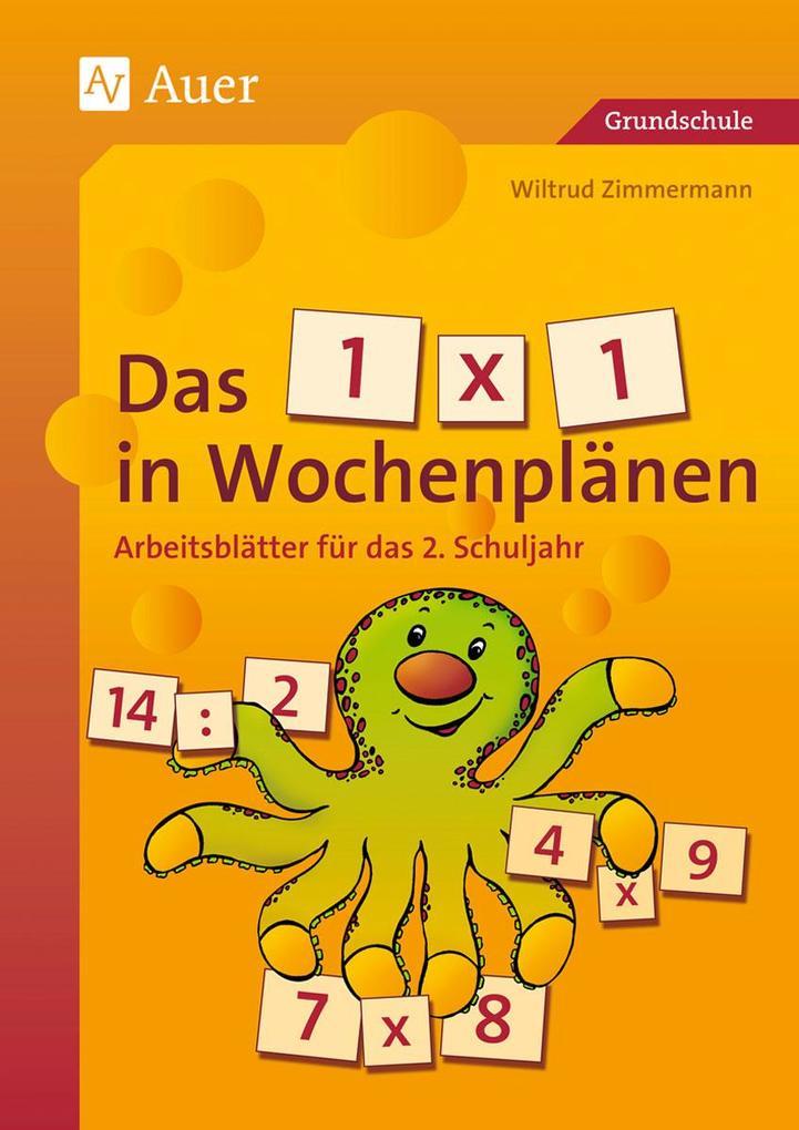 Das 1 x 1 in Wochenplänen, Klasse 2 als Buch