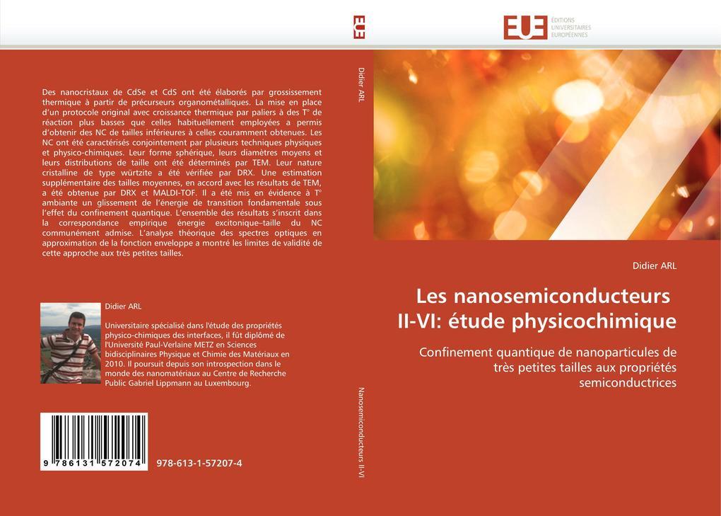 Les nanosemiconducteurs II-VI: étude physicochimique als Buch von Didier ARL - Editions universitaires europeennes EUE
