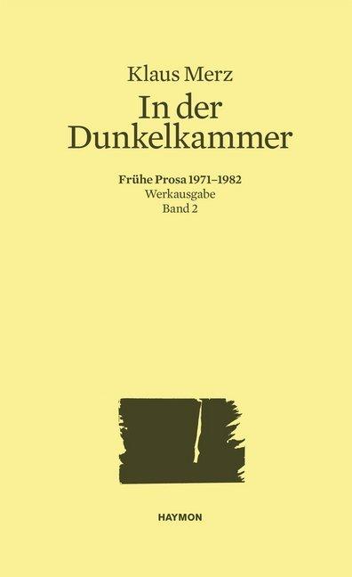 In der Dunkelkammer als Buch von Klaus Merz