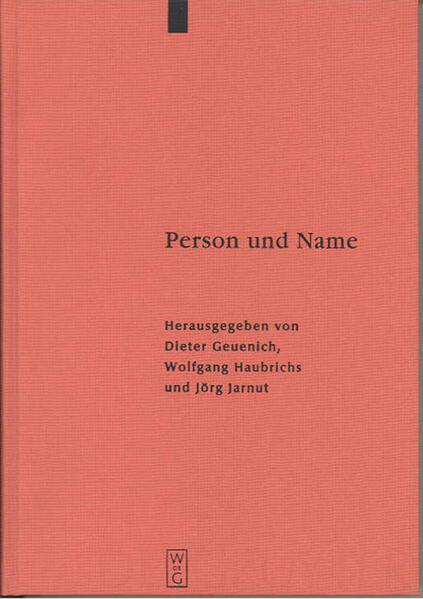 Person und Name als Buch