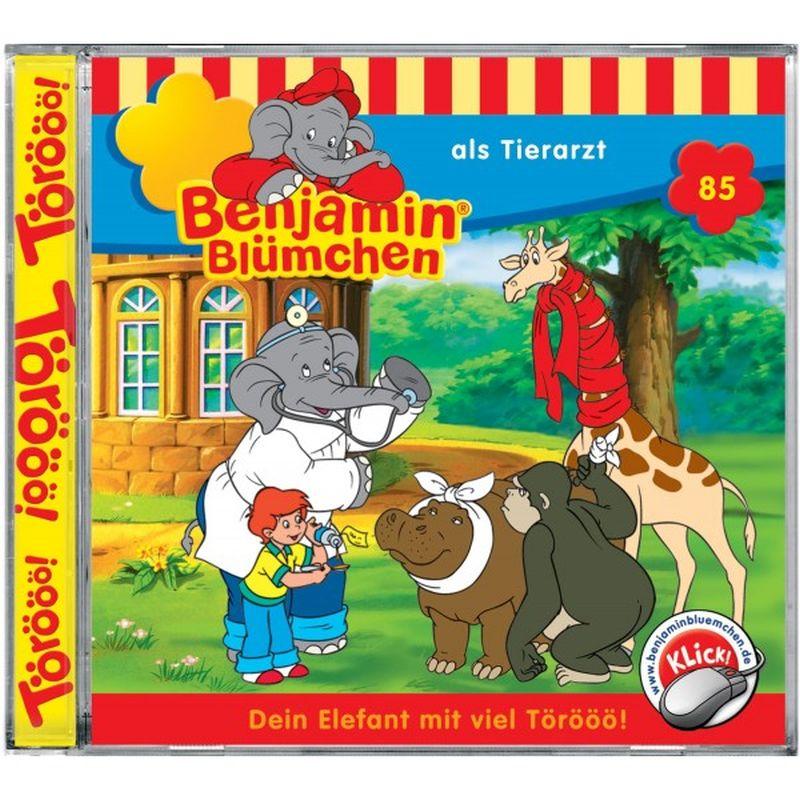 Benjamin Blümchen 085. ... als Tierarzt. CD als Hörbuch