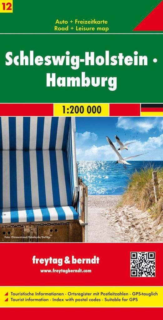Deutschland 12 Schleswig-Holstein, Hamburg 1 : 200 000 als Buch