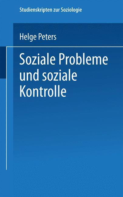 Soziale Probleme und soziale Kontrolle als Buch