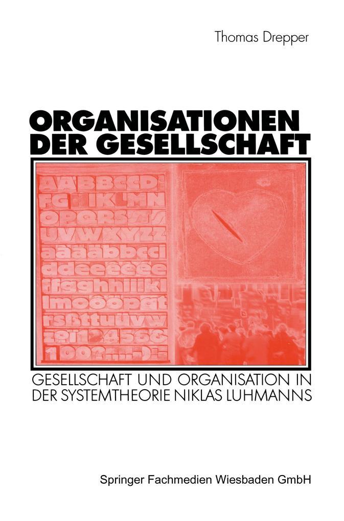 Organisationen der Gesellschaft als Buch