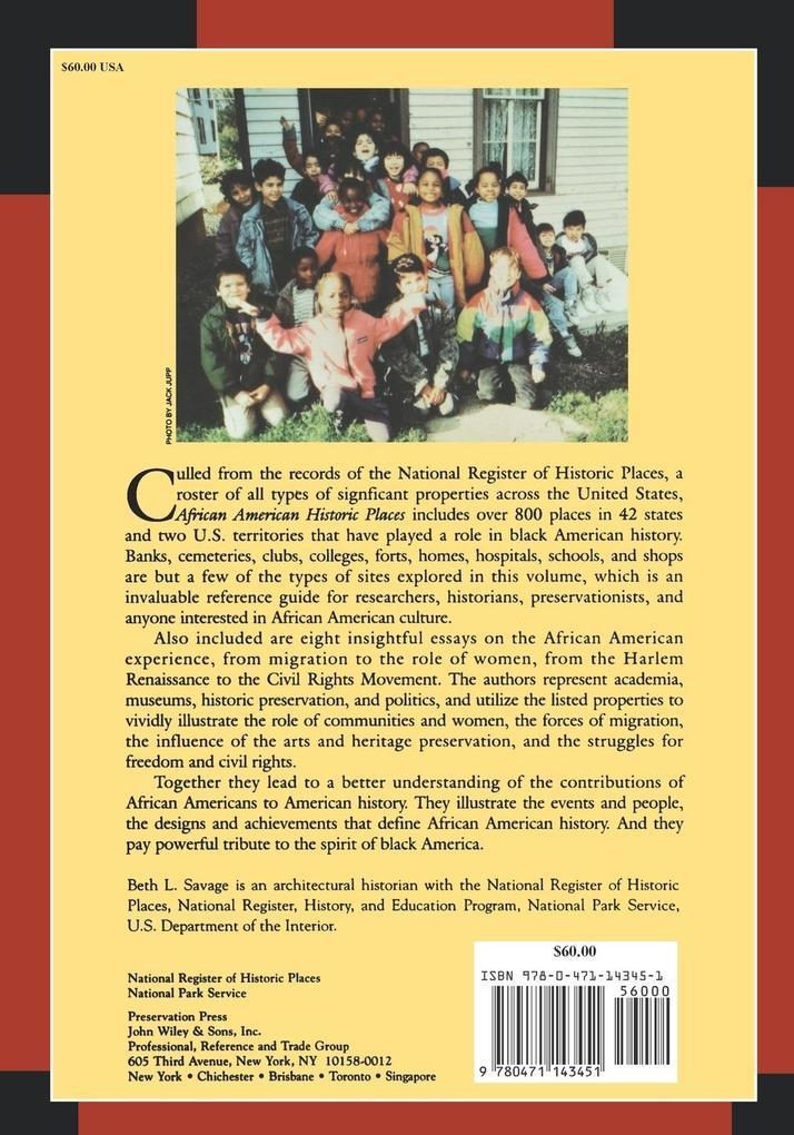 African American Historic Places als Taschenbuch