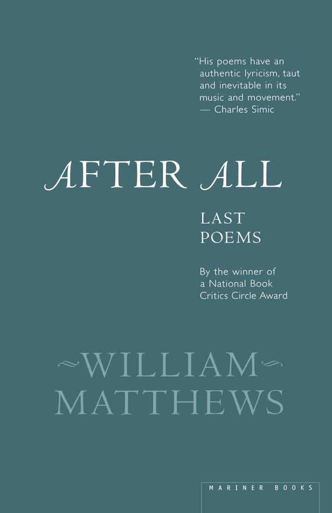 After All: Last Poems als Taschenbuch
