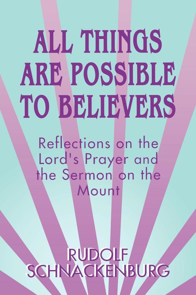 All Things Are Possible to Believers als Taschenbuch