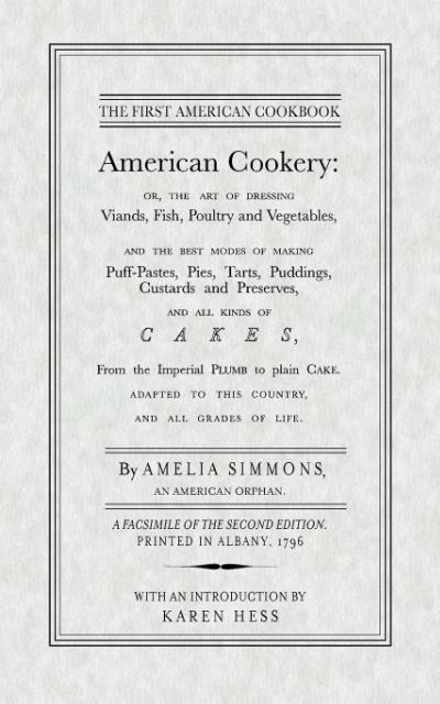 American Cookery als Taschenbuch