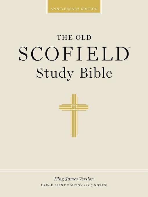 Old Scofield Study Bible-KJV-Large Print als Buch