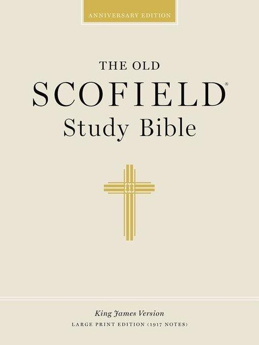Old Scofield Study Bible-KJV-Large Print als Buch