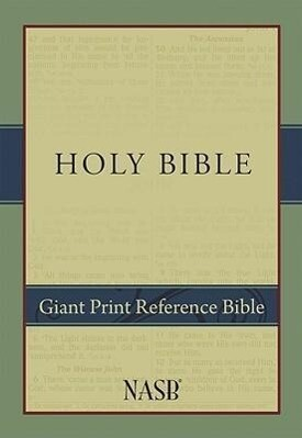 Giant Print Reference Bible-NASB als Buch