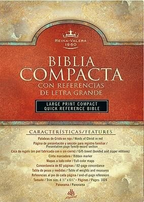 Large Print Compact Reference Bible-RV 1960 als Buch (Ledereinband)