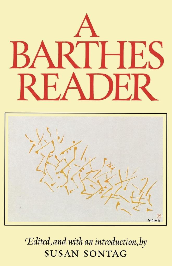 A Barthes Reader als Taschenbuch