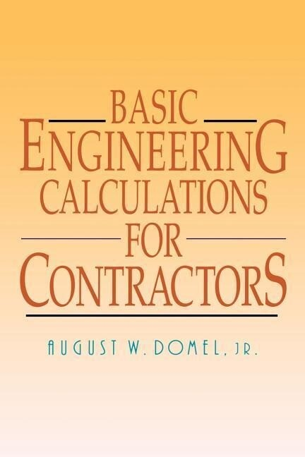 Basic Engineering Calculations for Contractors als Taschenbuch