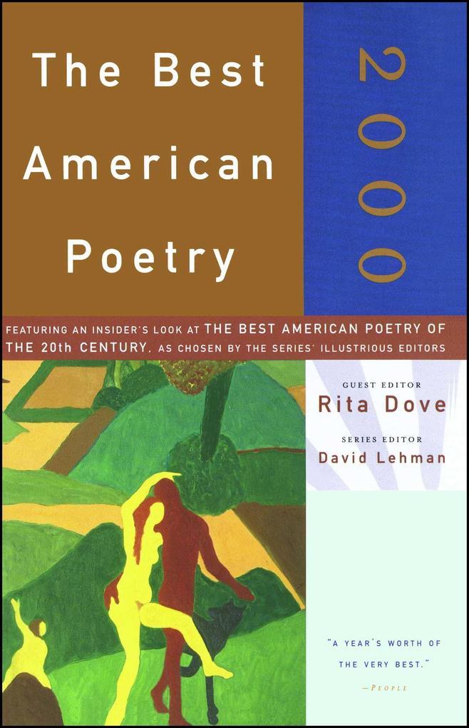 The Best American Poetry 2000 als Taschenbuch
